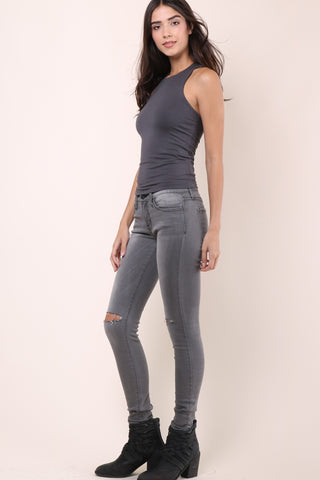 Malibu Beach Basics Day by Day Tank - Grey