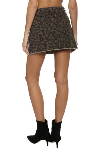 Gab & Kate Distressed Leopard Skirt