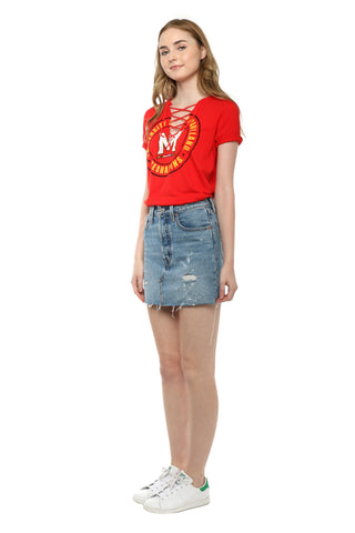 Retro Brand Maryland Lace Up Tee