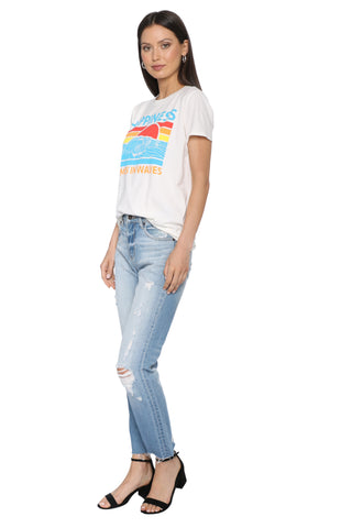 Sunday Stevens Happiness Comes in Waves Tee