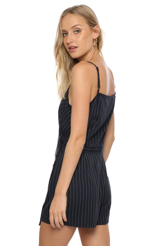 Robertson & Rodeo Pin Stripe Wrap Romper