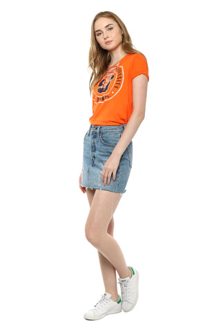 Retro Brand Syracuse Lace Up Tee