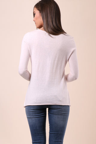 Decker Luxe Heart On Pocket Crew Sweater
