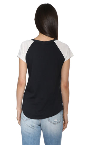 Jac Parker Split Neck Baseball Tee
