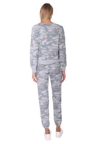 Z Supply Elle Rose Camo Long Sleeve