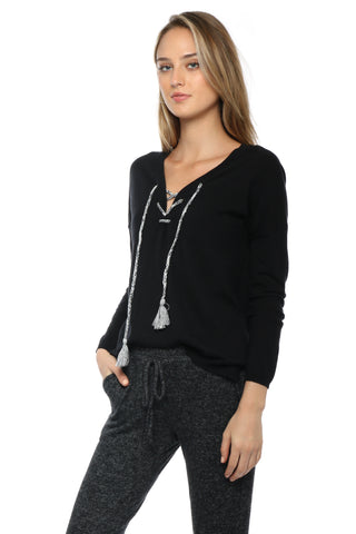 Decker Luxe Emily Tie Up Sweater