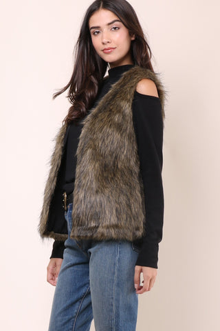 Jack By BB Dakota Belding Faux Fur Vest