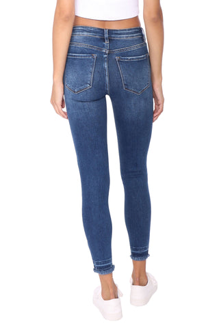 Vervet Mid Rise Distressed Released Skinny Jeans