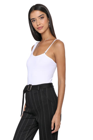 Suzette One Shoulder Rib Bodysuit