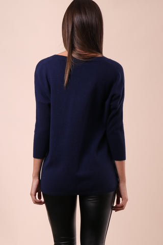 Decker Luxe Cashmere Button Side Pullover
