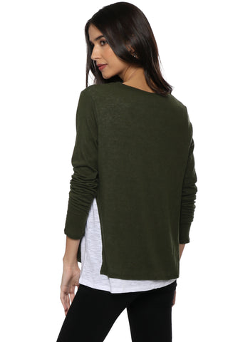 Jac Parker Layered Long Sleeve Top