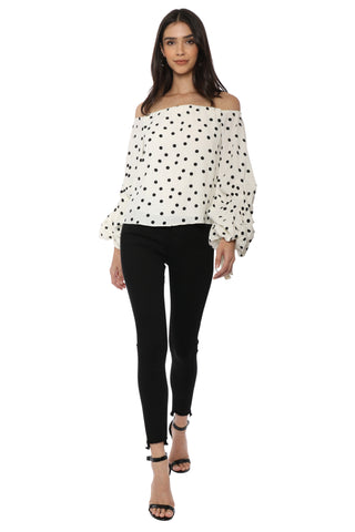 Lovers + Friends Emery Blouse- Dot