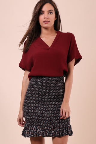 BB Dakota Hatley Top - Wine