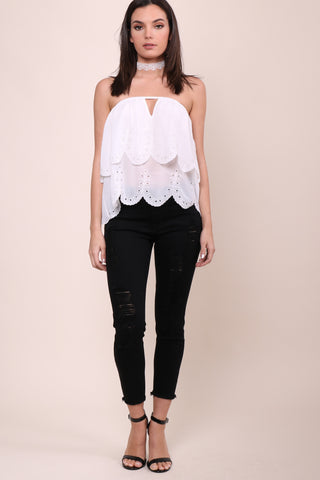 Gab & Kate Milos Eyelet Top