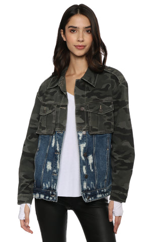 Hidden Dakota Denim Military Jacket