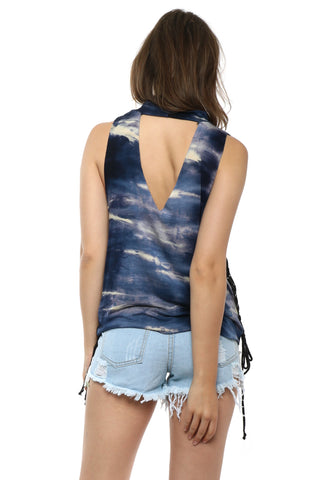 Jonathan Saint Wild Heart Lace Up Tank
