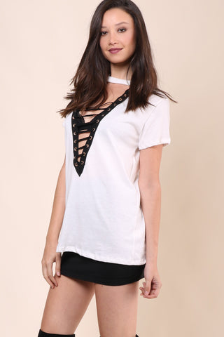 Jonathan Saint Lace Me Up Tee