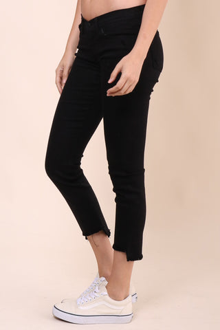 Flying Monkey Crop Fray Zip Skinny Jean