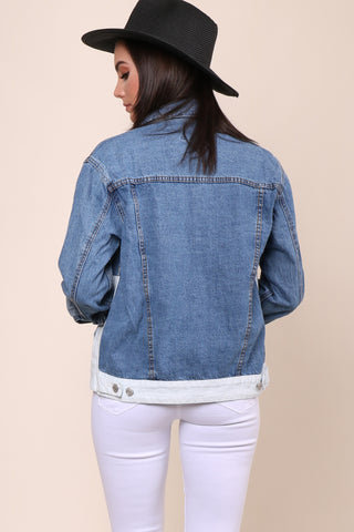 Brooklyn Karma Color Block Jean Jacket