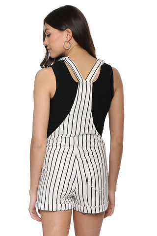 Z Supply The Pinstripe Short Overalls