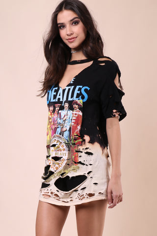 Jonathan Saint The Beatles Distressed Tee