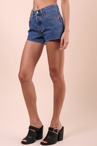 Levi's 501 Cut Off Shorts - Denim