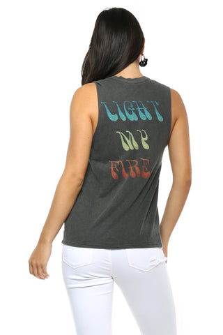 Daydreamer Light My Fire Cropped Tank