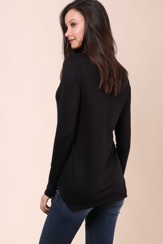 Malibu Beach Basics Pasadena LS Top - Black