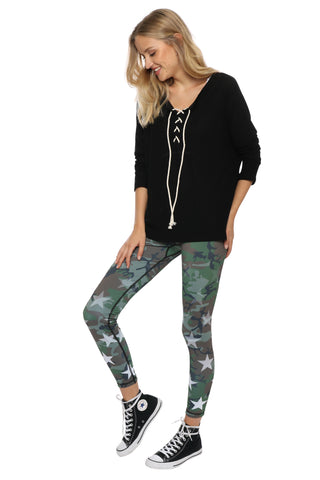 Jac Parker Lace Up Hacci Pullover