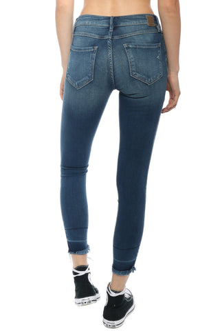Hidden Two Tone Ankle Skinny Jeans