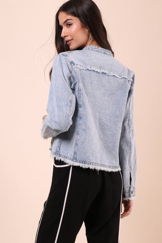 Gab & Kate Frayed Denim Jacket