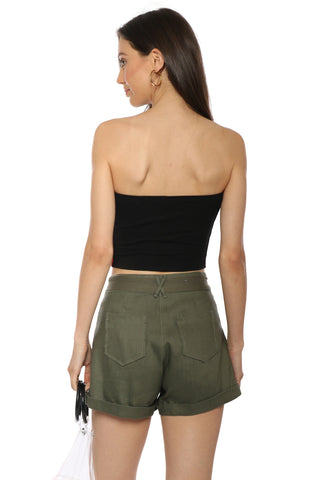 Brooklyn Karma Side Stripe Crop Top