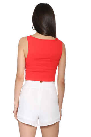 Suzette Cut Out Crop Top