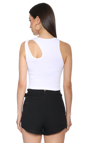 Suzette Rib Sleeveless Cut Out