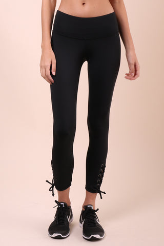 Strut-This Scottie Lace Up Crop Leggings