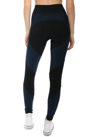 Plush Colorblock Fleece Lined Leggings