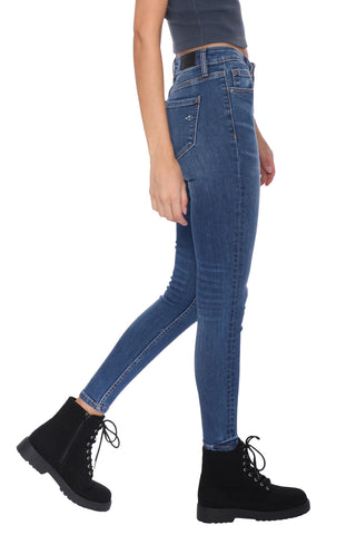 Hidden HR Ankle Skinny w Clean Hem