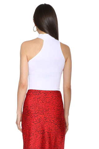 Suzette Sleeveless Cut Out Mock Neck