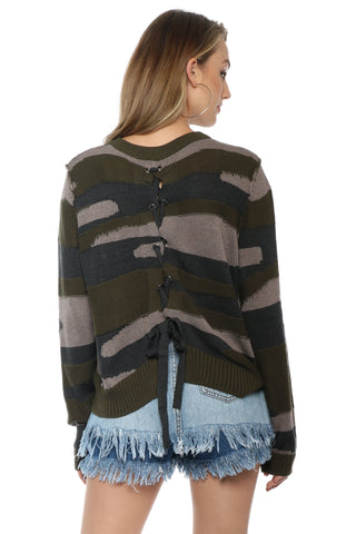 Fox + Hawk Army Girl Sweater