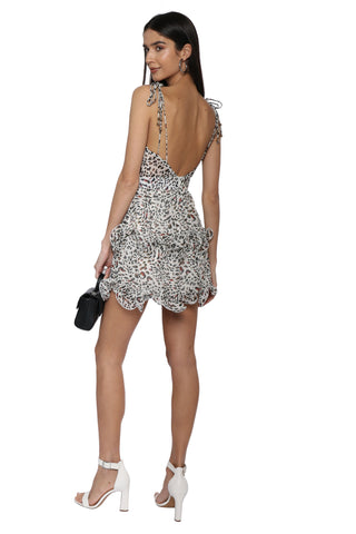 W.A.P.G. Leopard Ruffle Dress