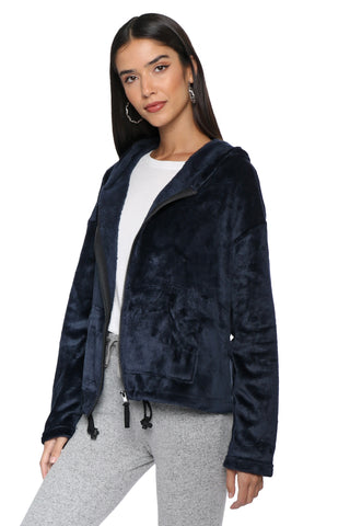 Brooklyn Karma Faux Fur Zip Up Hoodie