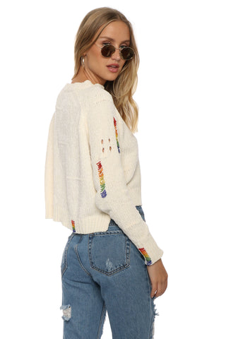 Robertson & Rodeo Rainbow Beaded Chenille Sweater