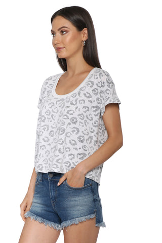 Brooklyn Karma White Leopard Tee