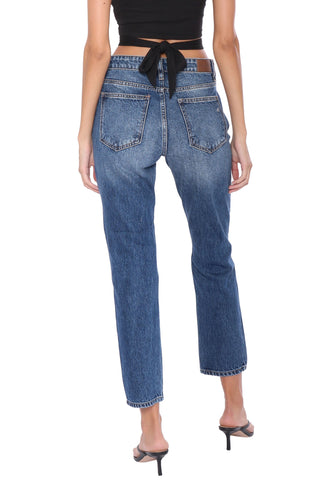 Hidden High Rise Distressed Slim BF Jeans