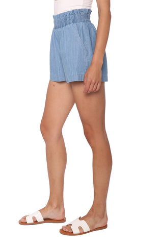 Sunday Stevens Paperbag Denim Shorts