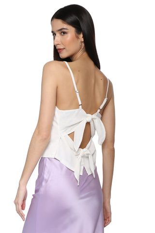 Gab & Kate Double Tie Linen Cami