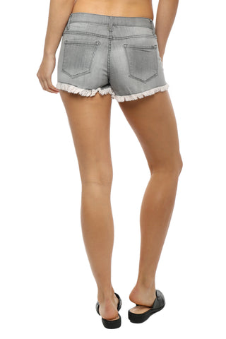Tractr Blu Grey Frayed Shorts