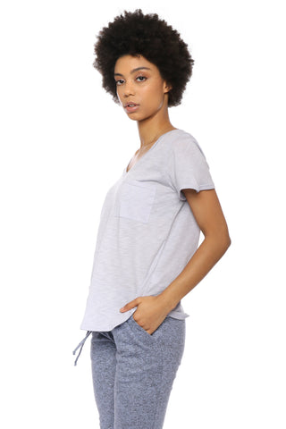Malibu Beach Slub V Pocket Tee