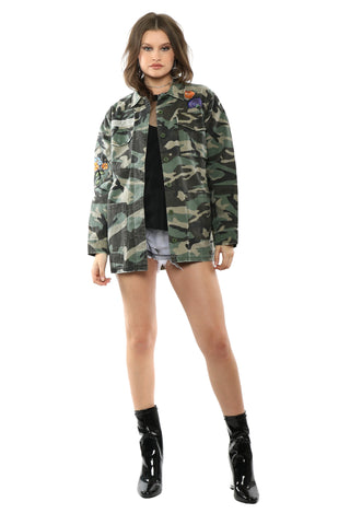 Brooklyn Karma Patched Camo Jacket