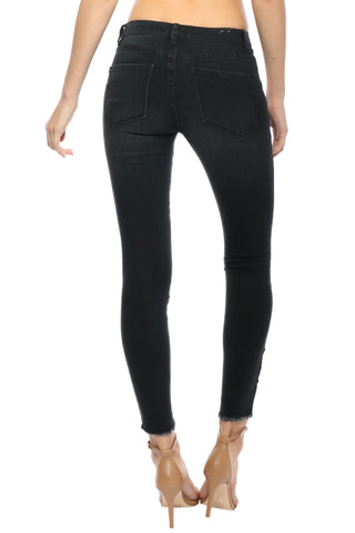 BanJara Black W/ Rose Patch Jeans